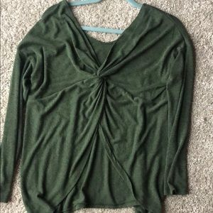 Emerald Twist-Back Top
